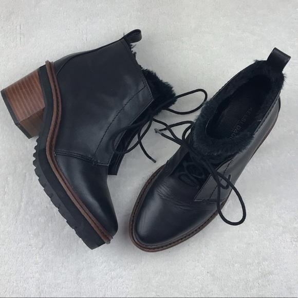 f3014dcc56ce3 Kelsi Dagger Shoes   Black Patterson Leather Ankle Boot   Poshmark
